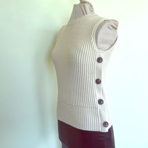 Ann Taylor Factory ivory knitted top tank